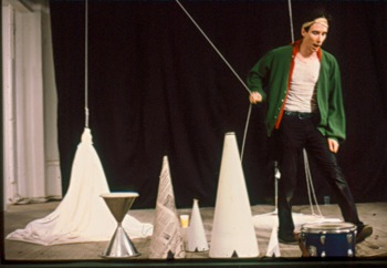 Mike Kelley performs at Hallwalls, 1981.