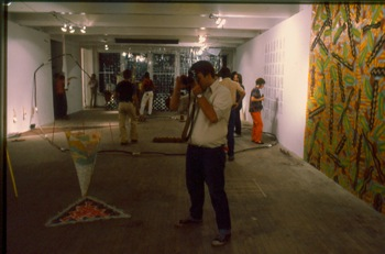 Opening of Summerspace, a series of group exhibitions held at Hallwalls, 1981.